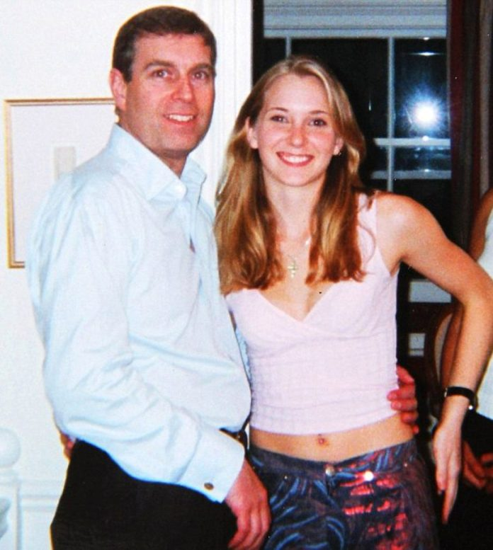 Prince Andrew with Virginia Roberts, who has made claims against him