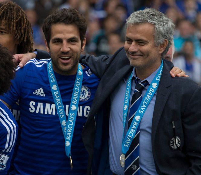 Fabregas and Mourinho worked together at Chelsea, winning the Premier League in 2015