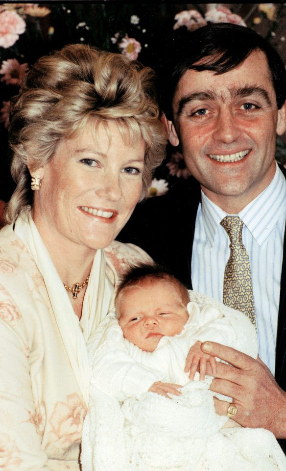 Duke and Duchess Of Westminster with their newborn son Hugh Earl Grosvenor