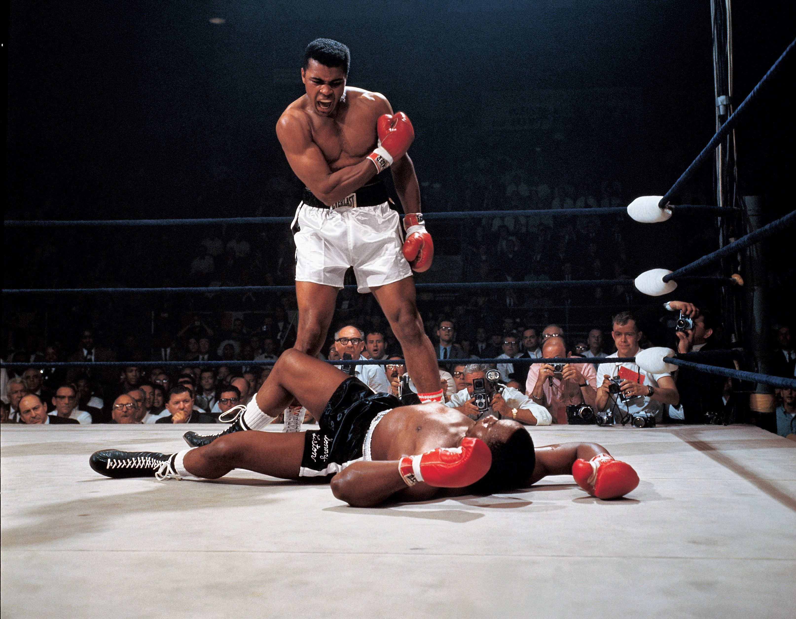The image of Ali standing over a battered Sonny Liston is one of sport's most iconic