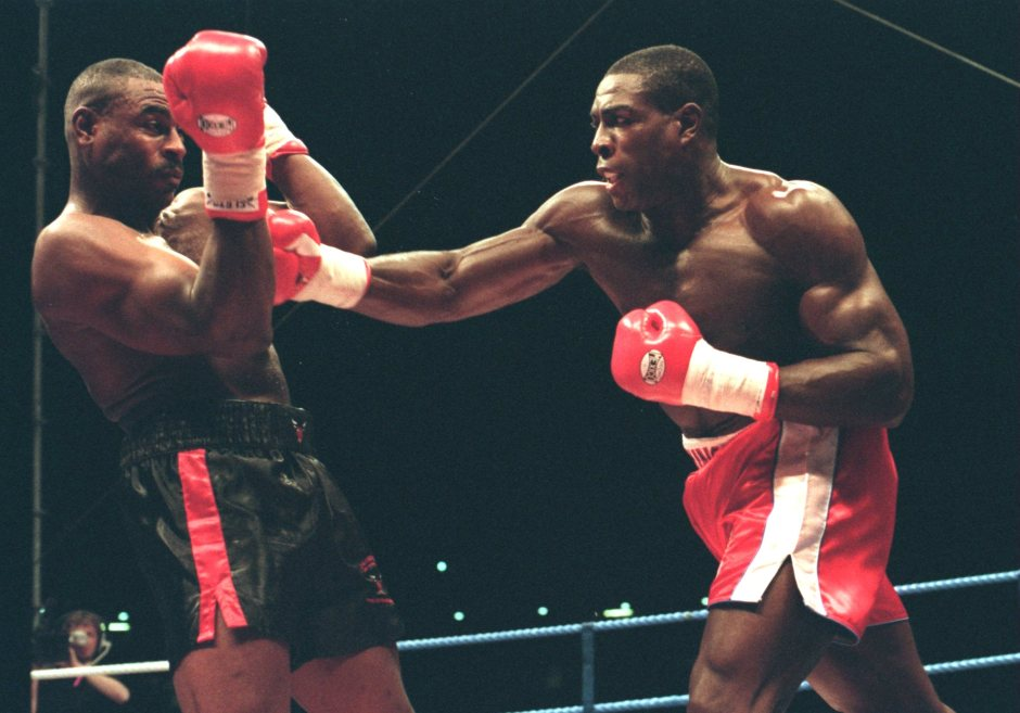 Frank Bruno became world champ after beating Oliver McCall in 1995