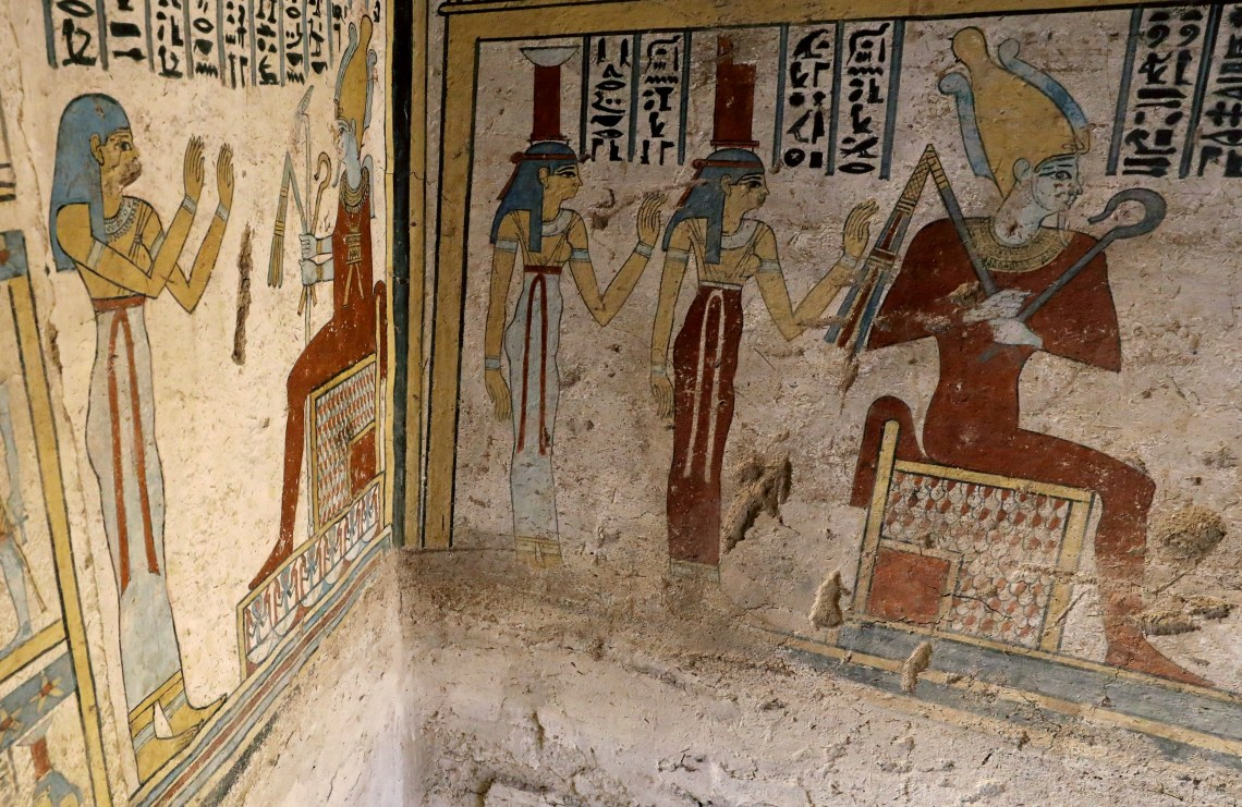 The tomb is full of intricate paintings