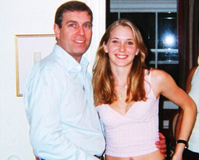 Prince Andrew and Virginia Roberts during a visit she made to London with Epstein