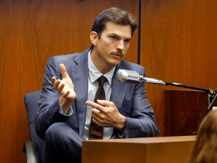Kutcher told jurors how he thought blood stains on Ashley's floor were red wine