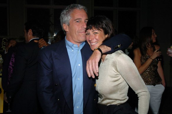 Epstein and Maxwell in New York City in 2005