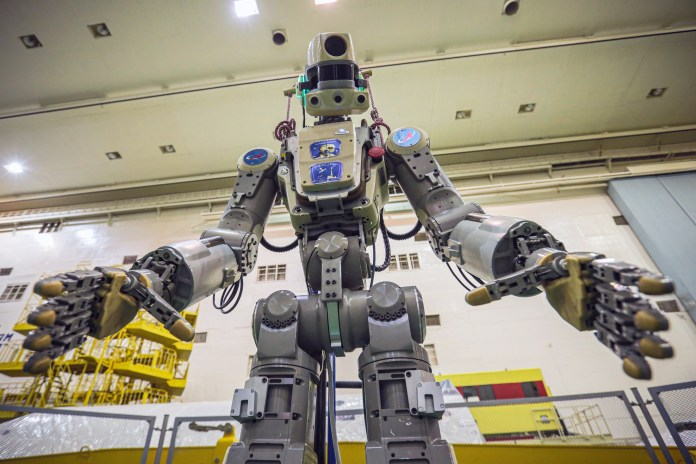 The six-foot robot can lift an impressive 44 pounds of cargo