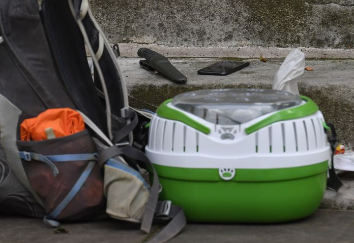Items were left outside the church in central London