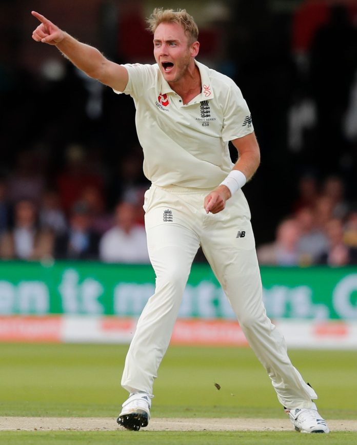 Stuart Broad gave England hope after a miserable day with the bat by dismissing David Warner for three