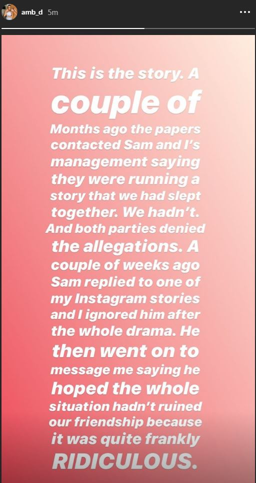 Amber shared her side of the story on Instagram