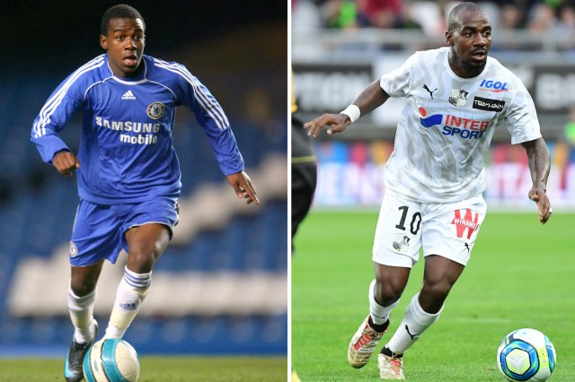 Gael Kakuta signed with Chelsea in 2007 but now plays for French club Amiens, pictured right