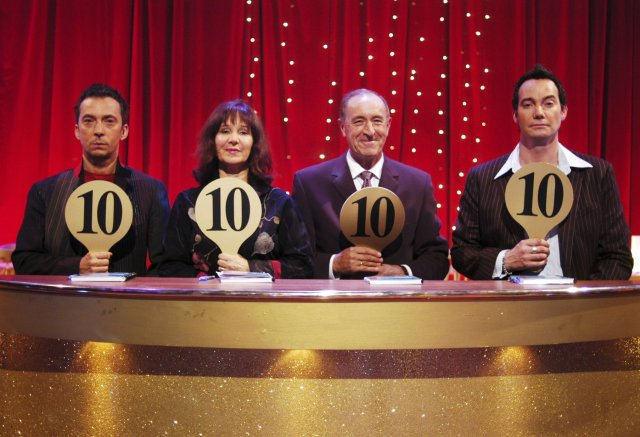 Bruno Tonioli and Craig Revel Horwood on the first Strictly judges' panel in 2004 with Arlene Phillips and Len Goodman