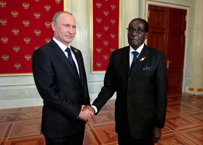 Mugabe also met Russian leader Vladimir Putin