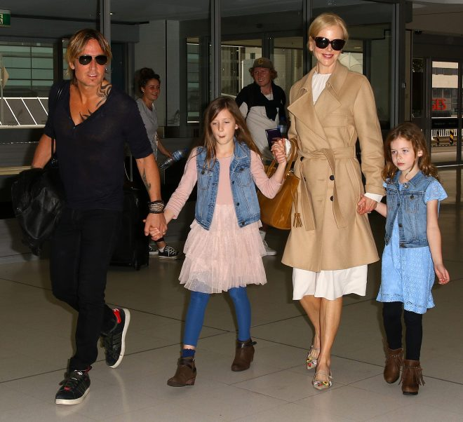 Nicole, 52, with husband Keith Urban and their daughters Faith Margaret and Sunday Rose