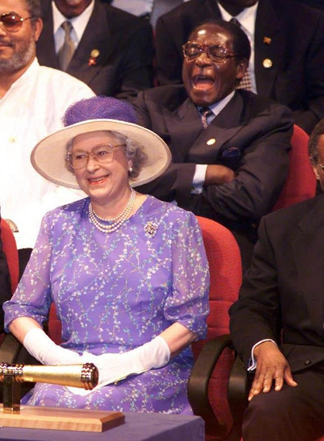 The Queen was pictured with Mugabe in 1999