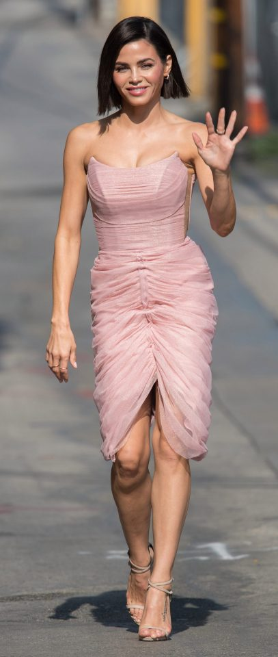 The actress wowed in a strapless blush pink dress in May last year
