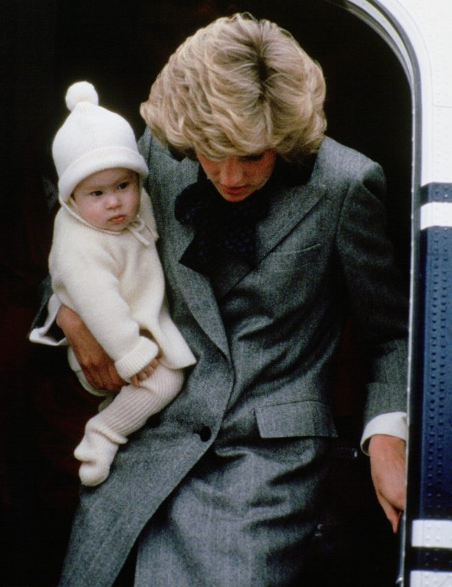 Archie's woolly hat bears a striking resemblance to baby Harry's in this picture of him with his mum Princess Diana in 1981