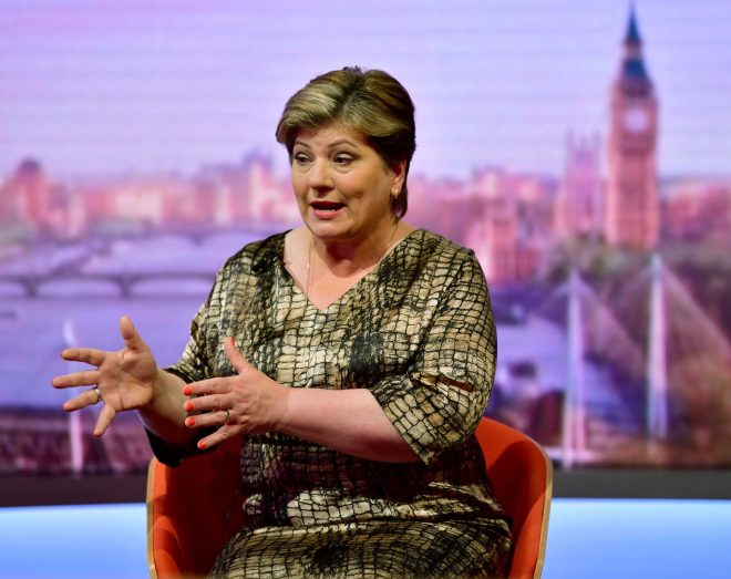 Shadow Foreign Secretary Emily Thornberry won hoots of derision for her hypocritical have-it-both-ways stance on Brexit