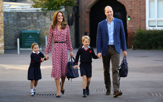 The Cambridges arrived at St Thomas' this morning