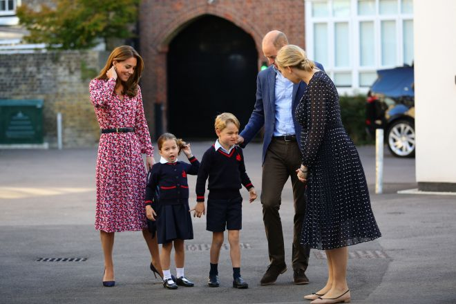 Charlotte is 'very excited' to start school, her dad said
