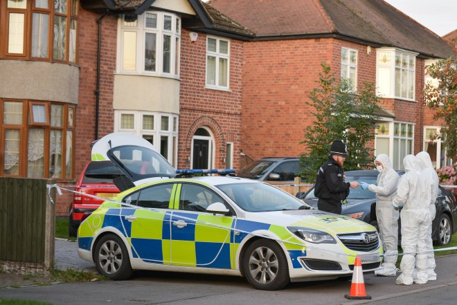 Police had been called to the home in Burton-upon-Trent last night after reports two people were unresponsive