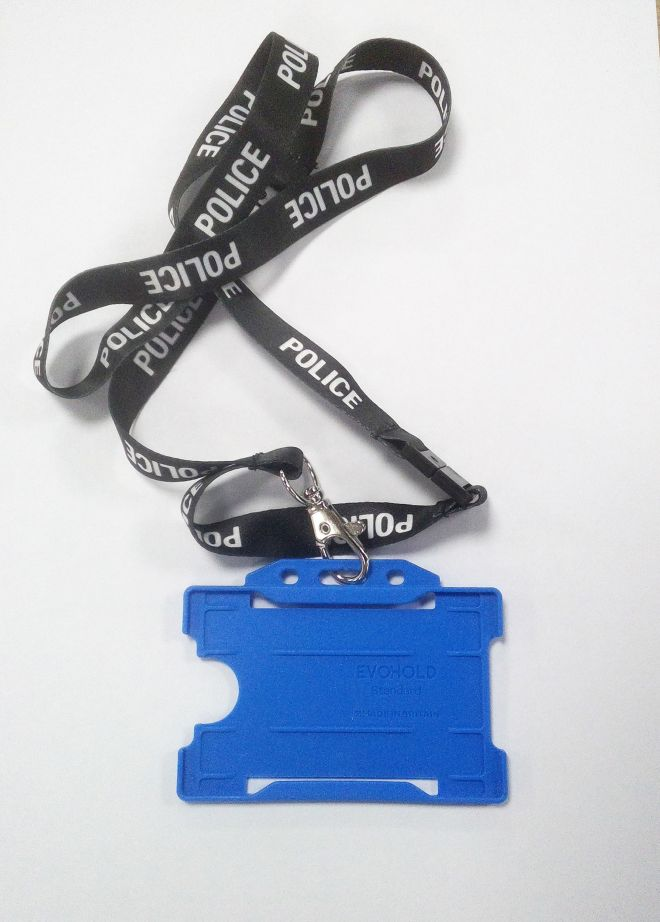 A lanyard used by serial fraudster Davey, who pretended to be a police officer