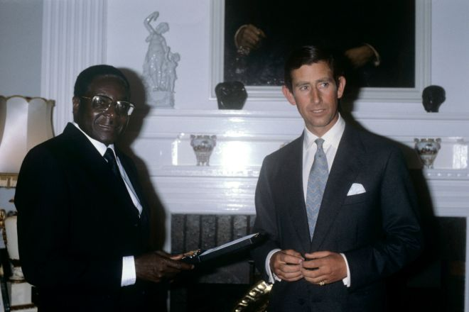 Prince Charles is pictured here with Mugabe in 1980