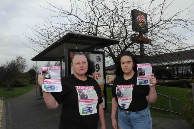 The family has plastered the area with posters appealing for information