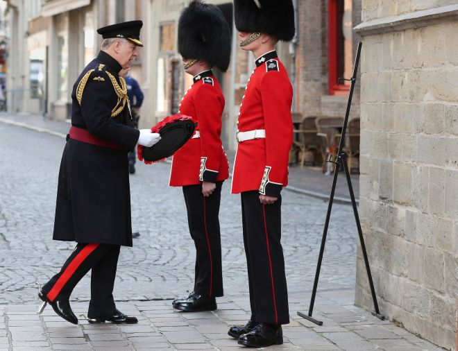 The Duke of York attended the memorial in his role as Colonel of the Grenadier Guards