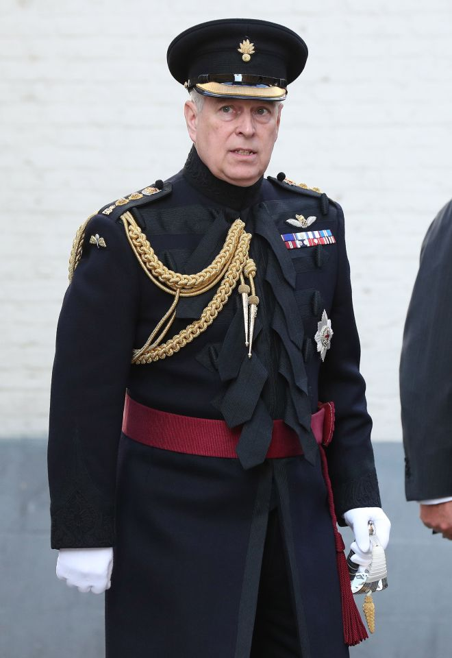 Prince Andrew attends a memorial to celebrate the 75th anniversary of the liberation of Bruges