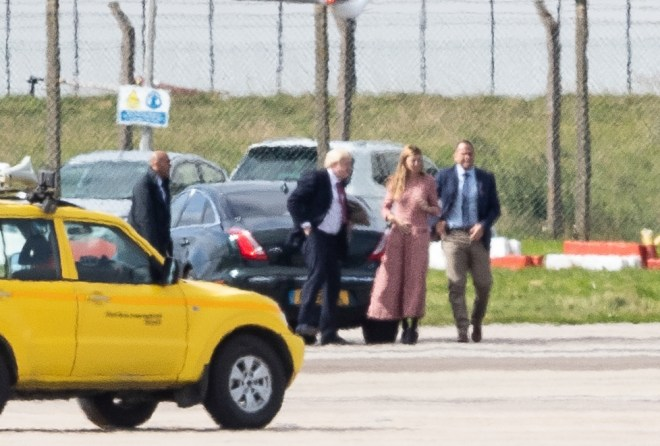 Carrie Symonds joined Boris Johnson for the trip to Scotland