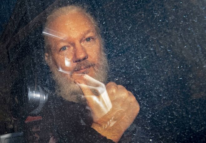The WikiLeaks founder is still at Belmarsh after being evicted from the Ecuadorian Embassy in London in April