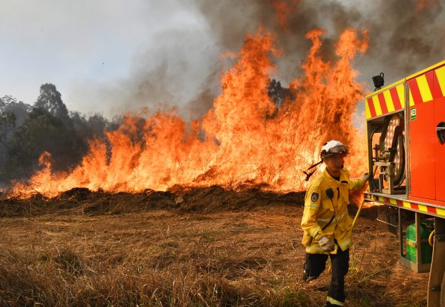New South Wales bush-fires are sweeping close to the state-of-the-art I'm A Celebrity studio