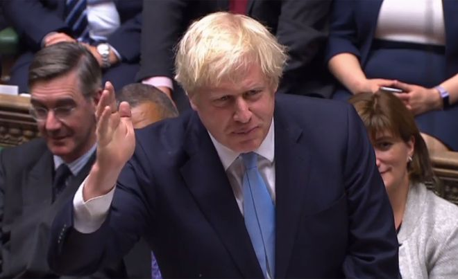 Prime Minister Boris Johnson accused Jeremy Corbyn of 'preposterous cowardice' for refusing him a general election