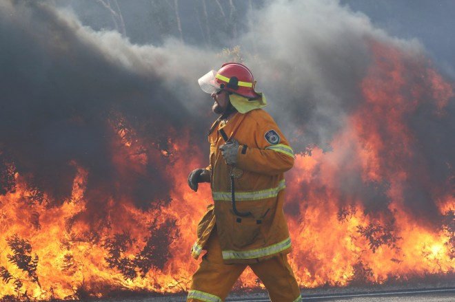 More than 300 firefighters battled through the night to contain the blazes