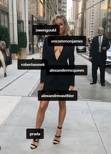 Tagged in the controversial 'tribute' photo were multiple fashion brands