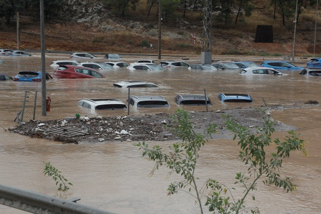 Other unlucky motorists found their cars completely submerged