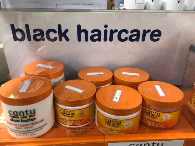 Anti-theft strips were placed on items in the 'black haircare' section in a Boots store