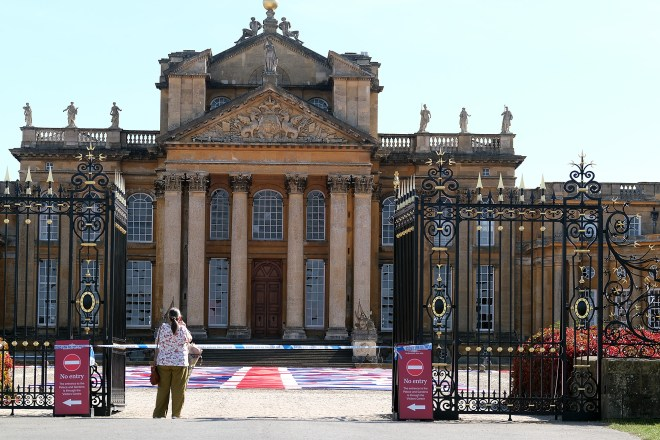 Blenheim Palace, the birthplace of Winston Churchill, said it was the first theft of its kind