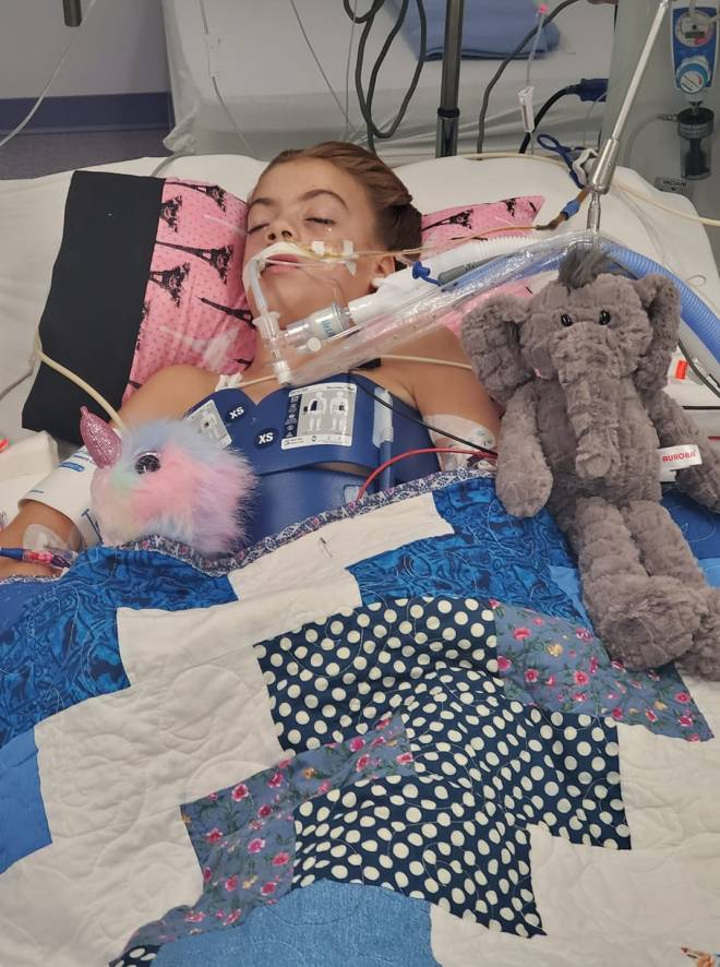 Lily Avant, 10, is in an induced coma after contracting a brain-eating infection while swimming near her home in Texas