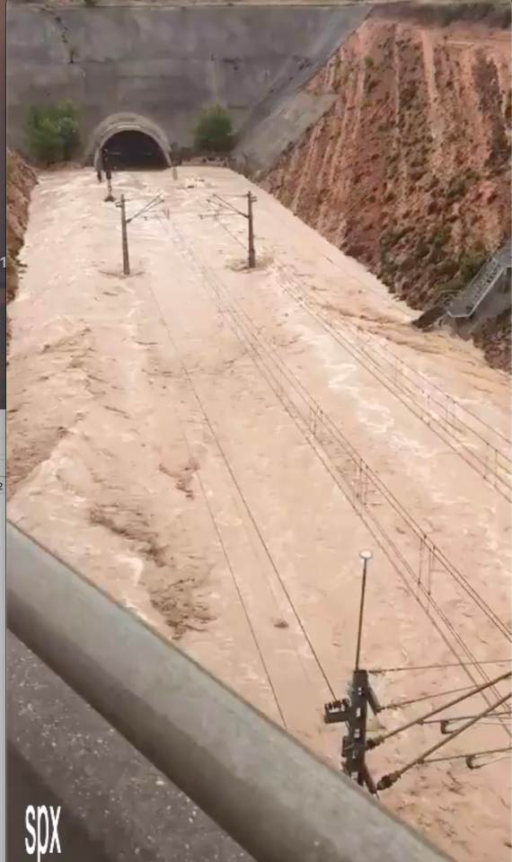Locals and tourists were warned of huge delays after the flood waters hit