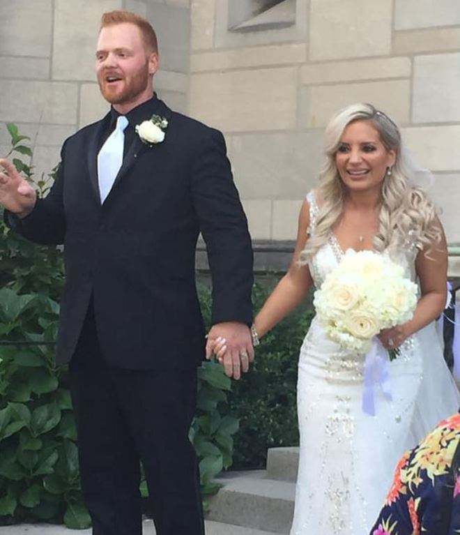 According to social media the dead man's daughter Lauren got married on the day of the blast