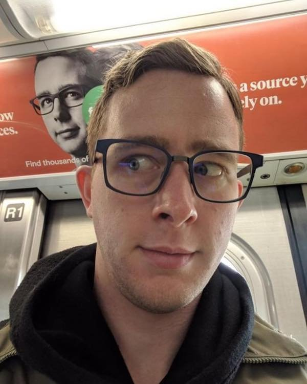 This commuter clocked a man in an ad that's the spitting image of himself