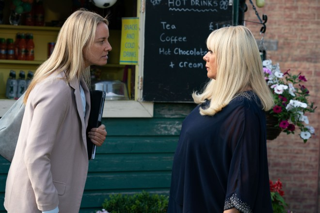 Mel and Sharon are at loggerheads in EastEnders