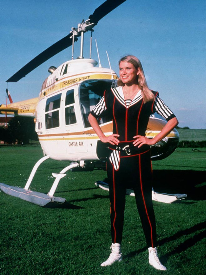 Anneka sports her signature 'action girl' look in 1988