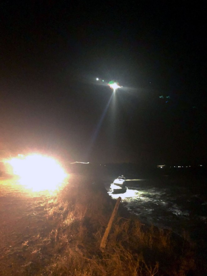 Coastguard spotted him and winched him into a helicopter on Friday night