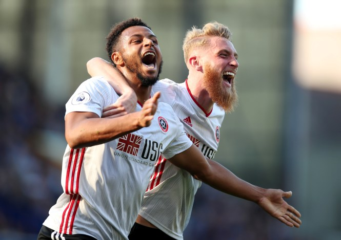 Lys Moussett celebrates scoring the second goal which sealed the win for Sheffield United