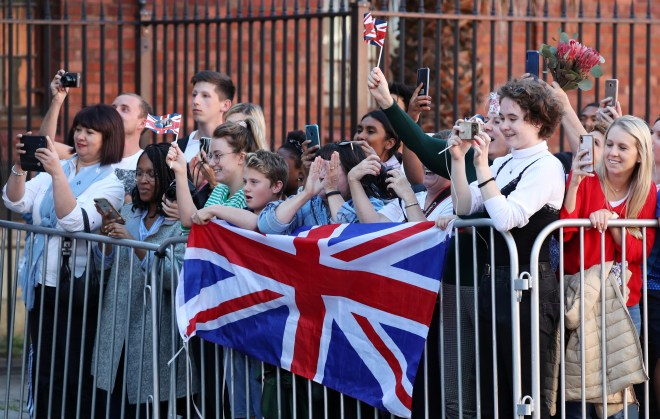 Young Capetonians greet the royal couple