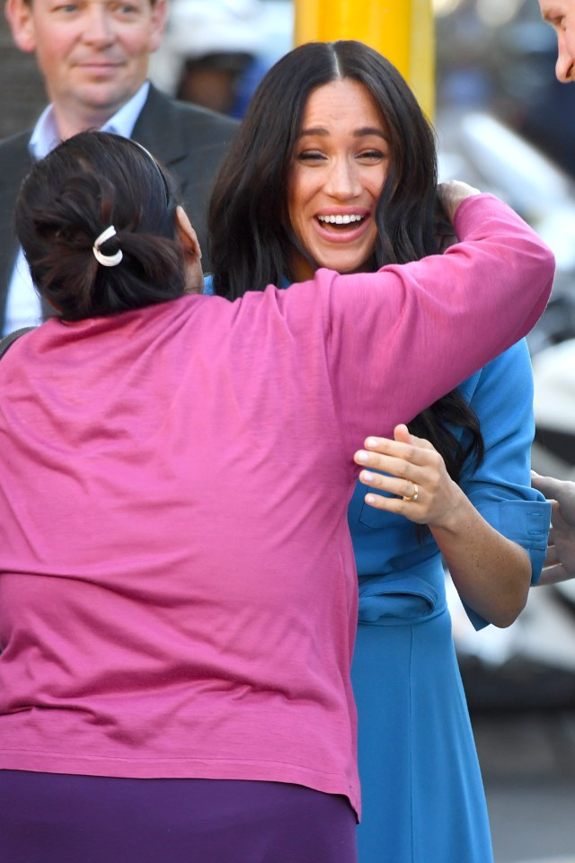 Meghan Markle was hugged by a very excited royal fan