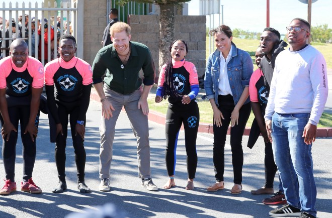 Prince Harry and Meghan Markle made sure to get involved in the activities for today