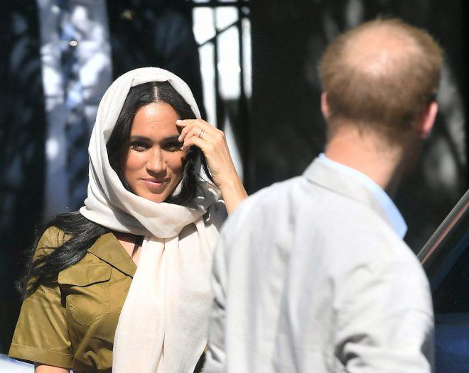 The harsh sunlight in South Africa revealed Harrys growing bald spot